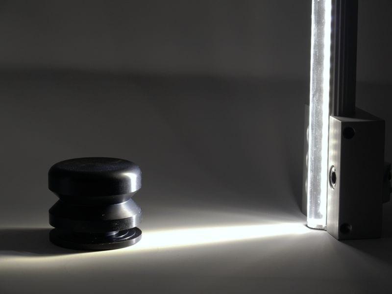 fokusdivergenz einer lel-c linearen beleuchtung